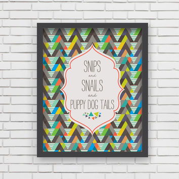 Snips And Snails Art Print