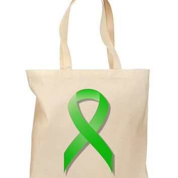 Lyme Disease Awareness Ribbon - Lime Green Grocery Tote Bag
