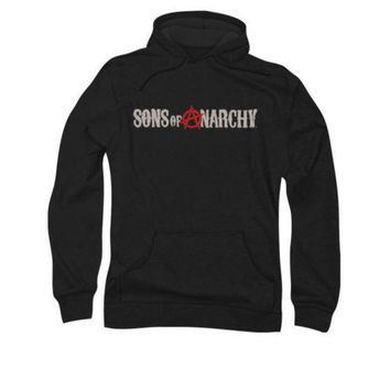 Sons Of Anarchy Beat Up Logo Licensed Adult Pullover Hoodie
