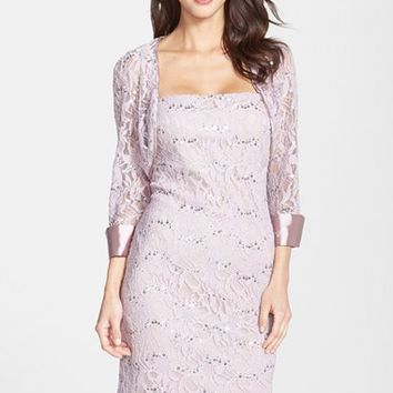 Women's JS Collections Embellished Lace Dress & Jacket