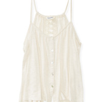 Aeropostale  Womens Crochet Tank Top - Beige, X-Small