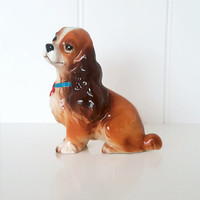 1950s Vintage Lady Figurine Cocker Spaniel Dog Lady and the Tramp Disney Made in Japan Collectible Figurine