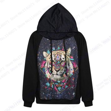Psychedelic Starry Night Woman Pullover Autumn Red Long Sleeve Skateboarding Sweatshirts Blue Galaxy Hoody Hoodies Unisex Jacket