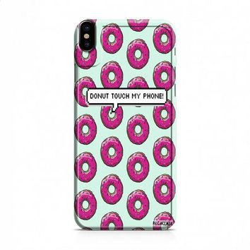 donut touch my phone iPhone X case