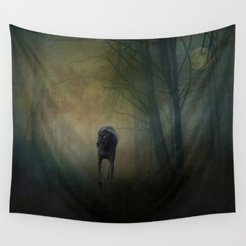 The Hound In The Woods Wall Tapestry by Theresa Campbell D'August Art