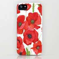 Poppy Field Print iPhone & iPod Case by Gypsybeee