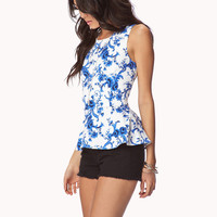 Essential Brocade Peplum Top