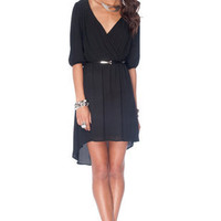 Darling Wrap Dress in Black :: tobi
