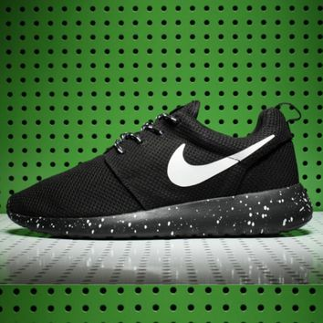 NIKE Women Men Running Roshe Sport Casual Shoes Sneakers Starry sky soles-white hook