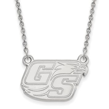NCAA Sterling Silver Georgia Southern U Small Pendant Necklace
