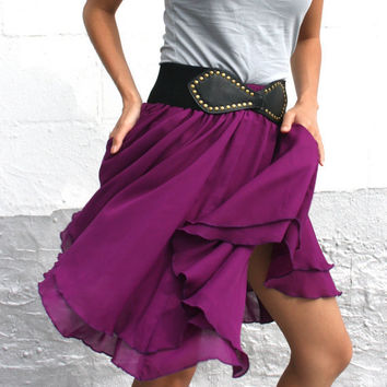 SALE Full Girls Chiffon Twirl Skirt with Unique by SevenBlooms