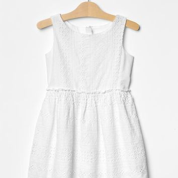 Gap Girls Eyelet Fit & Flare Dress
