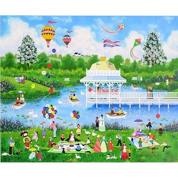 The Mother's Day Picnic - Limited Edition Serigraph on Paper by Jane Wooster Scott