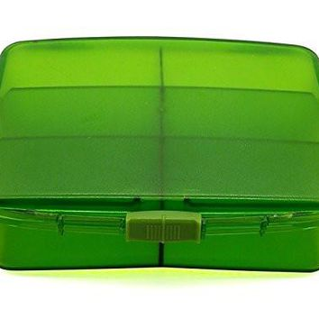 PuTwo Pill Box Large Capacity Pill Divider with 6 Compartments Storage Box - Green