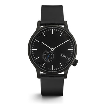 KOMONO Winston Subs Watch in Black