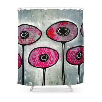 Society6 Poppies #6 Shower Curtain