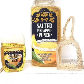 Bath and Body Works Salted Pineapple Punch Hand Soap, PocketBac & Gold Holder