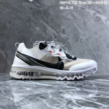 HCXX N1441 Nike React Element 87 Retro Cushion Running Shoes White Black