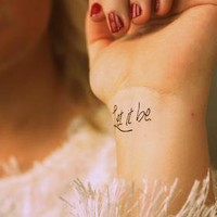 Fake Tattoos - Scandinavian temporary tattoos - Let it be