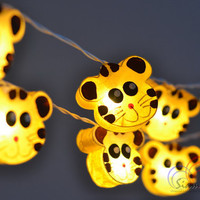 Christmas Hanging Lights Little Tiger Holiday Lights Fairy Lights for Bedroom Decoration 20 Lights/Set