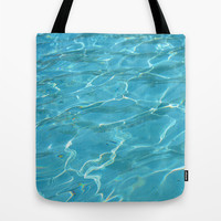 Turquoise Water Tote Bag by Lena Photo Art