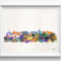 Canada Print, Victoria Skyline, British Columbia, Poster, Watercolor, Cityscape, City Painting, Illustration, Wall Art, Home Decor [NO 416]