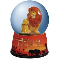 Fantasies Come True - Disney collectibles and memorabilia - Mufasa and Simba Lion King musical snowglobe - Mufasa Simba