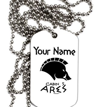 Personalized Cabin 5 Ares Adult Dog Tag Chain Necklace by TooLoud