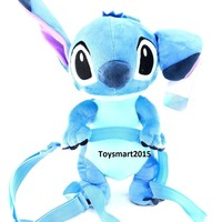 "Disney Lilo And Stitch Jumbo 17"" Plush/Crossbody Bag - Blue"