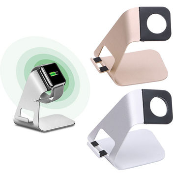 2in1 Aluminum Desk Charging Stand Holder Charger Dock For Smart Watch iPhone Samsung