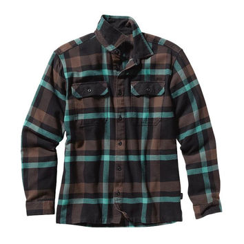 Patagonia Men's Fjord Long Sleeve Flannel Alpaca Brown