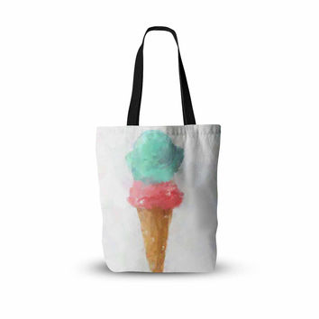 "Oriana Cordero  ""Cotton Candy & Raspberry"" Pink Teal Everything Tote Bag"