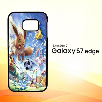 Eevee And Umbreon And Espeon X0915 Samsung Galaxy S7 Edge Custom Case