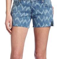 7 For All Mankind Women's Carlie Shorts in Laser Ikat Denim
