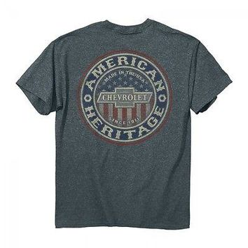 New CHEVY TRUE GRIT FLAG  T SHIRT POWERED BY CHEVROLET