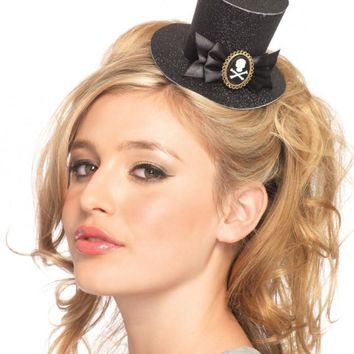 Skull Cameo Top Hat (One Size,Black)