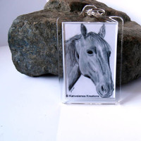 Horse Keychain Pencil Drawing Print