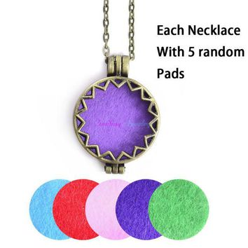 Antique Vintage Open Locket Diffuser Pendant with 5 Aromatherapy Pads