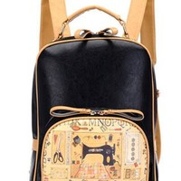 Fashion Cute Retro House Print Backpack