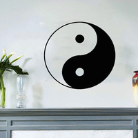 Housewares Wall Vinyl Decal Taoism (Daoism) Symbol Yin and yang Art Design Murals Interior Decor Sticker Removable Room SV3655