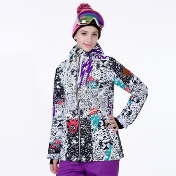 Snowboard Jacket Women Winter Ski Jacket Waterproof Reflective Snowboard Hoodie Female Snowmobile Coat Winter Sportwear