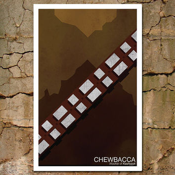 Vintage Chewbacca Star Wars Character Poster