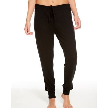 CHASER - Women's Love Knit Vented Drawstring Jogger - Black