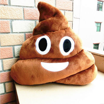 HOT SALE Cushion Emoji Pillow Gift Cute Shits Poop Stuffed Toy Doll Christmas Present Funny Plush Bolster Cojines Pillow Cushion