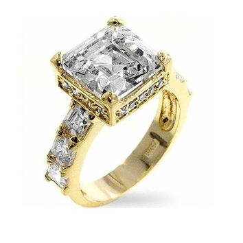Alana 4ct CZ 14k Gold Engagement Ring