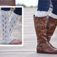 Off- White Boot Sock Leg Warmer-Women's