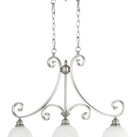 "0-010560>36""w Bryant 3-Light Kitchen Island Light Classic Nickel"