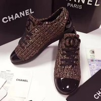 CHANEL : Casual sports shoes color canvas shoes