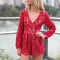 PRE ORDER - ADDICITED TO LACE PLAYSUIT(Expected Delivery 13th August, 2014) , DRESSES, TOPS, BOTTOMS, JACKETS & JUMPERS, ACCESSORIES, 50% OFF SALE, PRE ORDER, NEW ARRIVALS, PLAYSUIT, GIFT VOUCHER, Australia, Queensland, Brisbane