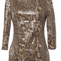 Wild Sequin Leopard Dress